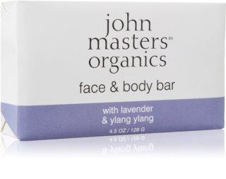 John Masters Organics Lavender & Ylang Ylang hidratantni sapun za lice i tijelo