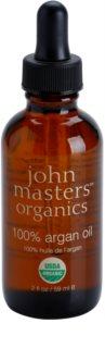 John Masters Organics 100% Argan Oil відновлююча олійка для обличчя, тіла та волосся