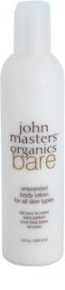 John Masters Organics Bare Unscented tělové mléko bez parfemace