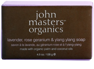 John Masters Organics Lavender Rose Geranium &  Ylang Ylang sabonete hidratante para rosto e corpo