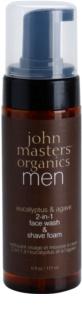 John Masters Organics Men Schaum zum Rasieren und Reinigen 2 in 1