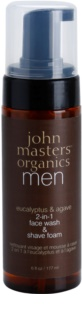 John Masters Organics Men spuma de ras si curatare 2 in 1