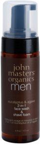 John Masters Organics Men Schaum zum Rasieren und Reinigen 2in1