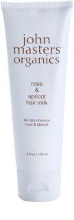 John Masters Organics Rose & Apricot leite sem enxaguar para as pontas do cabelo seco