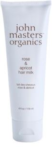 John Masters Organics Rose & Apricot leite para cabelo para as pontas do cabelo seco