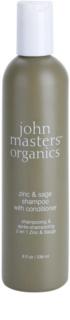 John Masters Organics Zinc & Sage champô e condicionador 2 em 1 para couro cabeludo irritado