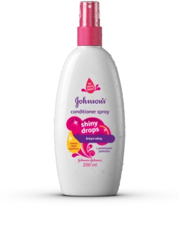 Johnson's Baby Shiny Drops condicionador sem enxaguar em spray com óleo de argan