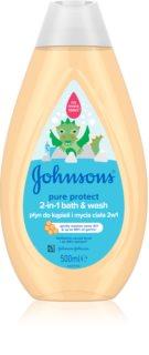 Johnson's Baby Pure Protect sprchový a koupelový gel pro děti