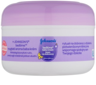 Johnson's Baby Bedtime Body Cream for Sleep and Relaxation