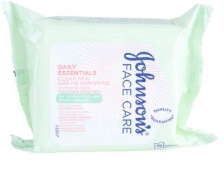 Johnson's Face Care Clear Skin toallitas limpiadoras para el rostro
