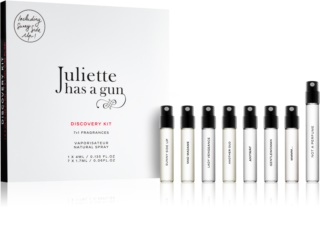 Juliette has a gun Discovery coffret cadeau Not a Perfume, Mmmm..., Anyway, Sunny Side Up, Gentlewoman, Mad Madame, Lady Vengeance, Another Oud