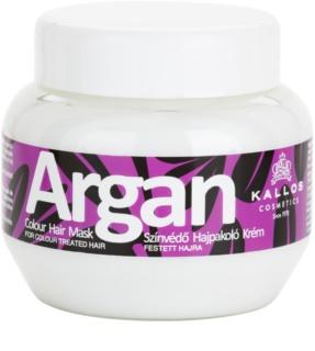 Kallos Argan maseczka  do włosów farbowanych