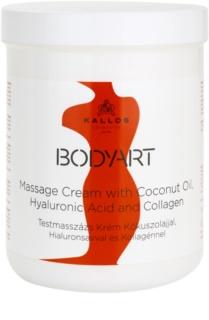 Kallos BodyArt Massagecreme mit Koskosnussöl, Hyaluronsäure und Kollagen