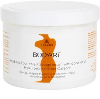 Kallos BodyArt crema pentru masaj pentru maini si picioare