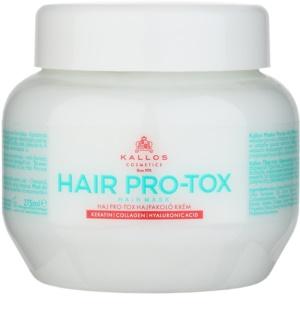 Kallos KJMN Maske für schwaches und beschädigtes Haar mit Koskosnussöl, Hyaluronsäure und Kollagen
