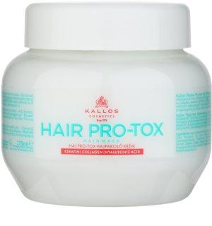 Kallos KJMN máscara para cabelo frágil e danificado com óleo de coco, ácido hialurônico e colagénio