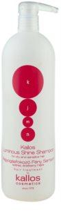Kallos KJMN aufhellendes Shampoo für trockenes und empfindliches Haar