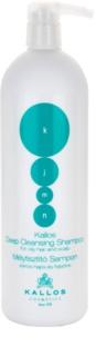 Kallos KJMN шампунь для глибокого очищення для жирного волосся та шкіри голови
