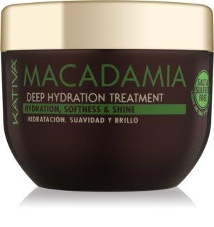 KATIVA Macadamia αναγεννητική και ενυδατική μάσκα για όλους τους τύπους μαλλιών