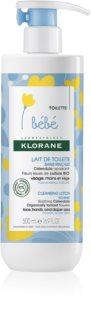 Klorane Bébé Calendula leche limpiadora sin aclarado  para pieles normales y secas
