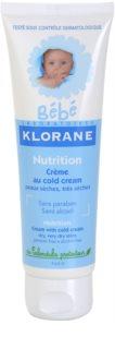 Klorane Bébé Nutrition výživný krém pre deti