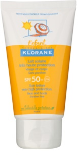 Klorane Enfant ochranné mléko na tělo a obličej SPF 50+