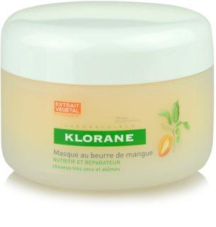 Klorane Mangue Maske mit ernährender Wirkung für trockenes und beschädigtes Haar