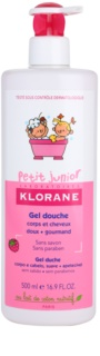 Klorane Junior Body and Hair Shower Gel With Aromas Of Raspberries