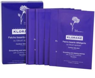 Klorane Yeux Sensibles изглаждащи и  успокояващи лепенки за уморени очи, с екстракт от метличина