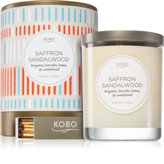 KOBO Natural Math Saffron Sandalwood scented candle