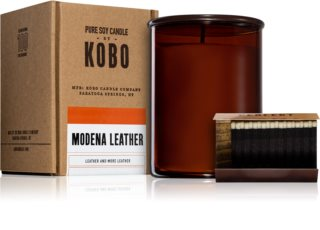 KOBO Woodblock Modena Leather vonná svíčka