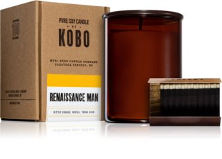 KOBO Woodblock Renaissance Man scented candle