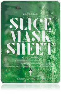 KOCOSTAR Slice Mask Sheet Cucumber Calming Face Sheet Mask with Moisturizing Effect