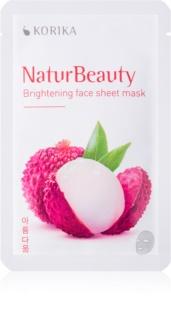 KORIKA NaturBeauty masque tissu éclat