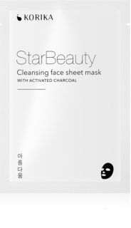 KORIKA StarBeauty cleansing face sheet mask with activated charcoal