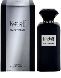 Korloff Korloff Private Black Vetiver eau de toilette mixte 88 ml
