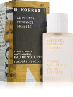 Korres White Tea, Bergamot & Freesia toaletní voda pro ženy 50 ml