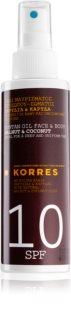 Korres Walnut & Coconut  aceite solar en spray SPF 10