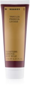 Korres Vanilla, Freesia & Lychee leche corporal para mujer 125 ml