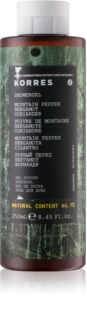 Korres Mountain Pepper, Bergamot & Coriander gel de ducha para hombre 250 ml
