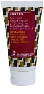 Korres Body Almond Oil & Shea Butter crema nutritiva para manos