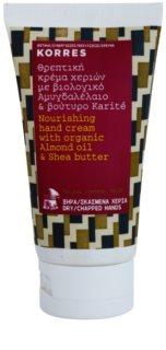 Korres Body Almond Oil & Shea Butter nährende Handcreme