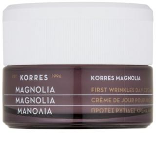 Korres Magnolia Tagescreme gegen erste Falten LSF 15