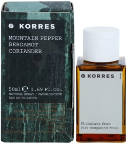 Korres Mountain Pepper, Bergamot & Coriander eau de toilette para homens 50 ml