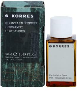 Korres Mountain Pepper (Bergamot/Coriander) toaletna voda za moške 50 ml