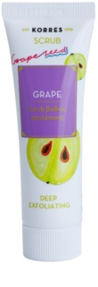 Korres Mask&Scrub Grape дълбоко почистващ пилинг