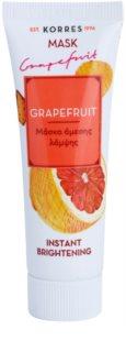 Korres Mask&Scrub Grapefruit освітлююча маска з миттєвим ефектом