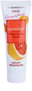 Korres Mask&Scrub Grapefruit rozjasňujúca maska s okamžitým účinkom