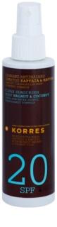 Korres Sun Care Walnut & Coconut nemastná emulze na opalování SPF 20
