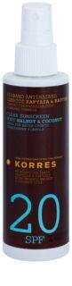 Korres Walnut & Coconut  нежирна емульсія після засмаги SPF 20